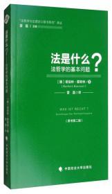 """""""法哲学与法理论口袋书系列""""译丛:法是什么?(原书第2版)"""