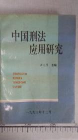 中国刑法应用研究--下册
