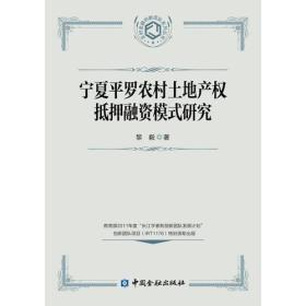 宁夏平罗农村土地产权抵押融资模式研究黎毅 著