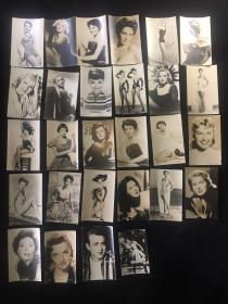 【铁牍精舍】【影像精品】 50年代前后派拉蒙等制作《泰勒、梦露等明星照》28种,13.5x8.7cm