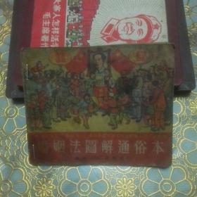 连环画:《婚姻法图解通俗本》 51年上海初版,52你重庆重印第一版
