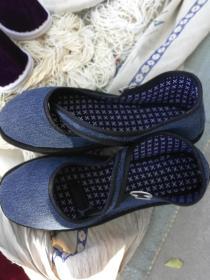 鞋文化'女士'一带鞋布鞋千层手纳底 灰色38码微信13610611768