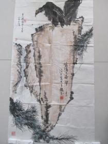 画家王建波——大幅花鸟画——写潘天寿笔意