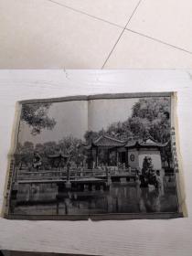 西湖三潭印月九曲桥(丝织五十年代)