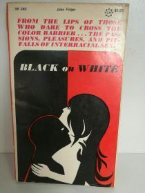 美国族际通婚研究 John Folger:Black on White A Study of Miscegenation in America 英文原版书