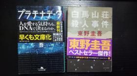 东野圭吾:白马山庄杀人事件 + プラチナデータ 【日文原版】2本合售、不拆卖