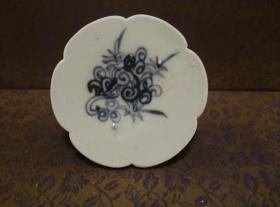 古玩文玩收藏类:明 青花花卉纹老瓷片 QH-0019