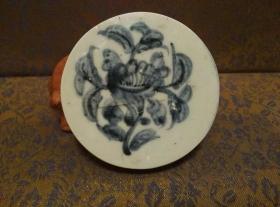 古玩文玩收藏类:明 青花花卉纹老瓷片 QH-0022