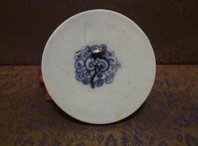 古玩文玩收藏类:明 青花花卉纹老瓷片 QH-0018