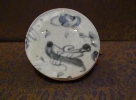 古玩文玩收藏类:明 青花花卉纹老瓷片 QH-0030