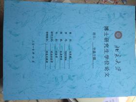 北京大学博士研究生学位论文中县干部(冯军旗)