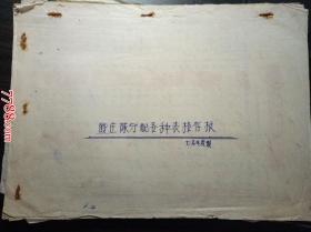 1970年殷庄队分配各种表格存根(各户各种分配表,记载生产队对社员的分配情况)
