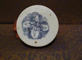 古玩文玩收藏类:明 青花花卉纹老瓷片 QH-0033