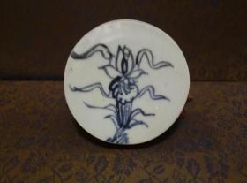 古玩文玩收藏类:明 青花花卉纹老瓷片 QH-0028
