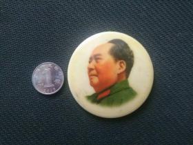 毛主席像章,塑料彩章——1911
