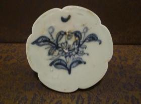 古玩文玩收藏类:明 青花花卉纹老瓷片 QH-0020