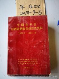 中国共产党山西省新绛县组织史资料 1928.3--1987.10 品如图 免争议,