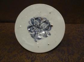 古玩文玩收藏类:明 青花花卉纹老瓷片 QH-0027