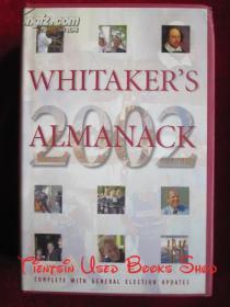 Whitakers Almanac 2002(134th Edition)惠特克年鉴2002年(第134版 英语原版 精装本)
