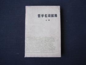 《哲学名词解释 上册》