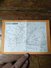 文革时期――武汉市公共交通路线图