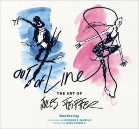 漫画大师 Out of Line: The Art of Jules Feiffer  英文原版