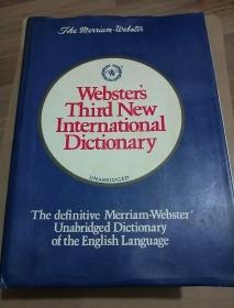 韦氏第三版新国际英语大辞典 英语学习最权威的词典  书重近10公斤 8开 巨册