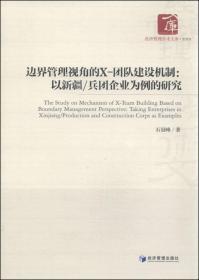 边界管理视角的X-团队建设机制:以新疆/兵团企业为例的研究