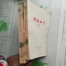 红色经典珍本 湖南人民出版社1965年版 湘西剿匪长篇小说(上下册全)大32开【上册少封面 其余完好 如图】