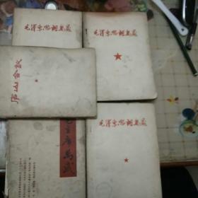 毛泽东思想万岁+毛主席万岁+庐山会议   见图四本合售   书不缺页,书内容各不相同
