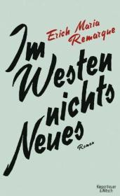 德文小说 德语 Im Westen nichts Neues 西线无战事 德国原版
