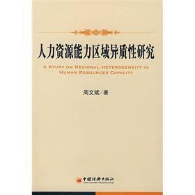 正版 人力资源能力区域异质性研究 周文斌 中国经济出版社
