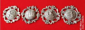 清代老银器银饰帽字一套天仙送子包老怀旧收藏好品精美漂亮