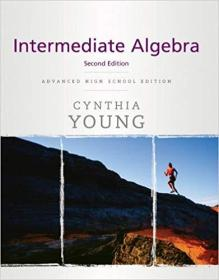 英文原版书 Intermediate Algebra 中级代数 Hardcover – 2010 by Cynthia Y. Young  (Author)