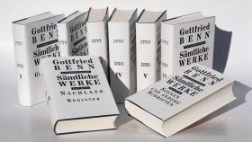 德文 德语 戈特弗里德·贝恩 Gottfried BENN  全集 全套7卷8册 Sämtliche Werke - Stuttgarter Ausgabe 德国原版