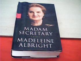 MADAM SECRETARY A MEMOIR MADELEINE ALBRIGHT 美國國務卿奧爾布賴特