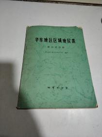 华东地区区域地层表:浙江省分册(一版一印)