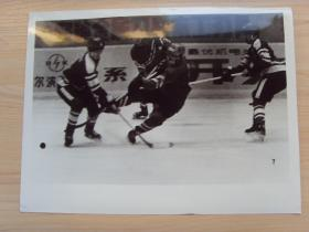超大尺寸:1983年 第五届全国冬季运动会,哈尔滨对和吉林队的冰球比赛