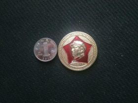 毛主席像章,五角形,3505厂——5003