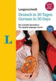 德国原版 朗根沙伊特 30天学德语 课程 书附带音频 Langenscheidt Deutsch in 30 Tagen - Sprachkurs mit Buch, 2 Audio-CDs