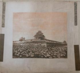 """1993年作于中央美院版画工作室""""紫禁城的黄昏""""丝网版画"""