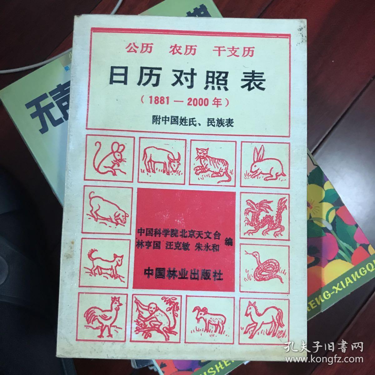 日历对照表(1981年—2000年)公历/农历/干支历