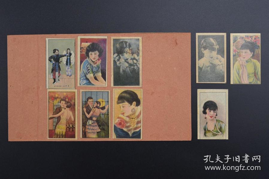 (甲7806)《烟卡》老烟卡 烟标9张 RUBY QUEEN 红宝石皇后 烟卡尺寸:6.5*3.5CM