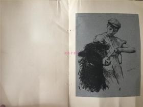 20世纪初期版画一张:英国风景画家Henry Herbert La Thangue的作品,A STUDY