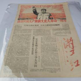 1967满江红报纸(热烈庆祝无产阶级文化大革命一周年)