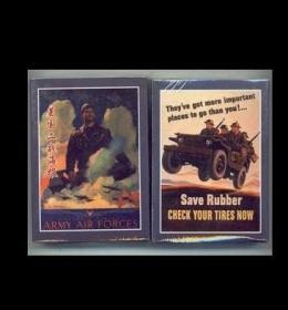 【全新】《二战美国宣传画海报精选》绝版收藏扑克牌 带收藏证书 每副54张全套
