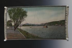 1506《民国都锦生丝织 内西湖全景 》稀少见