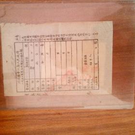 红色票据:川北区中江县人民政府1950年度征收国家公粮收据