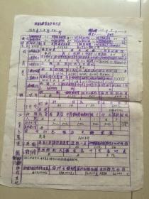 1934年湖南大庸县(现张家界市)糖蔗调查表。共2页