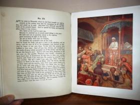 1908年New Testiment:LIFE OF JESUS OF NAZARETH 威廉•霍尔圣经名画《新约福音书画集》 76桢彩色插图 超大开本布面精装 珍贵初版本